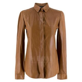 Gucci Tan Soft Leather Shirt