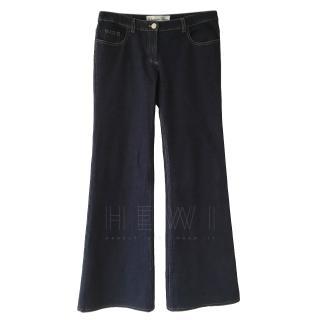 Dior Blue Wide Leg Jeans