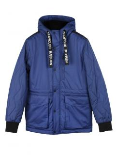 Christopher Raeburn blue quilted hooded field jacket