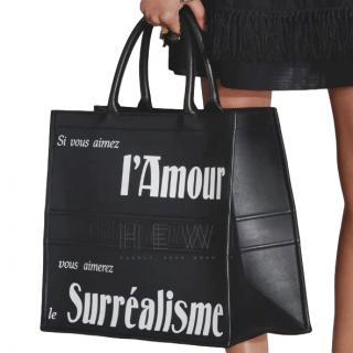 Dior Pre-Fall 18 Black Leather Book Tote