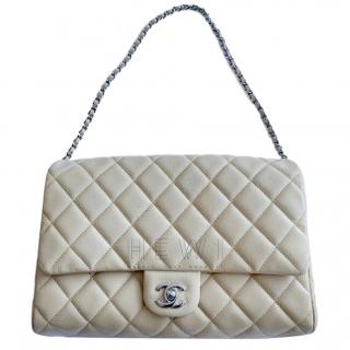 Chanel Beige Caviar Leather Flap Bag