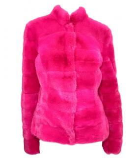 Roberto Cavalli Pink Mink Jacket