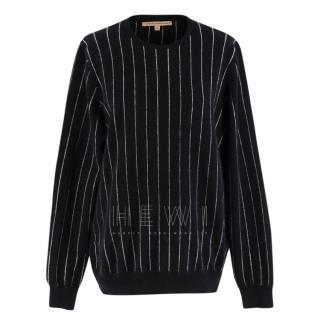 Christopher Kane Cashmere Black Pin Stripe Sweater