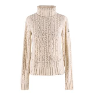 Moncler Cashmere Cable Knit Rollneck Sweater