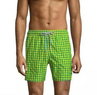 Vilebrequin Green & Yellow Men's Swim Short