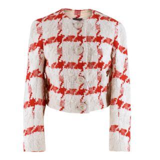 Alexander McQueen Crop Check Tweed Jacket