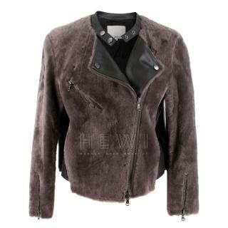 Phillip Lim Shearling Biker Jacket