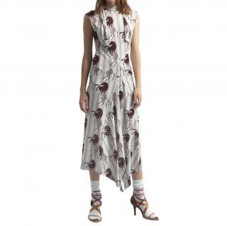 Chloe Horse & Stripe Lavalliere dress size 42 unworn