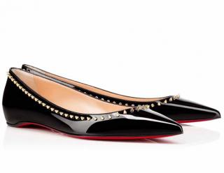 Christian Louboutin Anjalina Flat Patent Leather Ballerinas