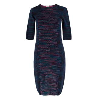 M Missoni Blue & Pink Stretch Knit Dress