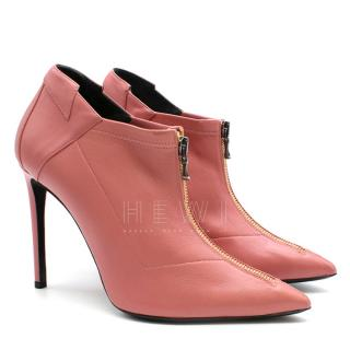 Roland Mouret Pink Leather Ankle Boots