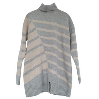 Nicole Farhi Striped Knit Roll Neck Jumper