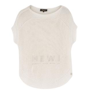 Loro Piana Silk & Linen Sleeveless Open Knit Jumper