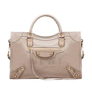 Balenciaga Beige Classic Metallic Edge City for Women