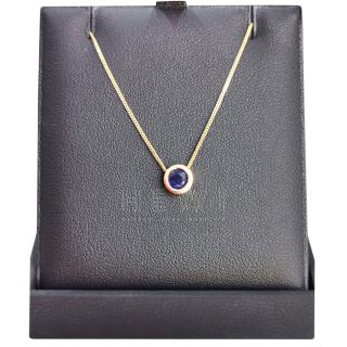 Bespoke 18ct Gold 0.45ct Sapphire Pendant Necklace