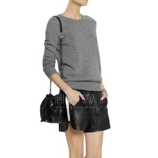 Acne Studios Maia Leather Shorts