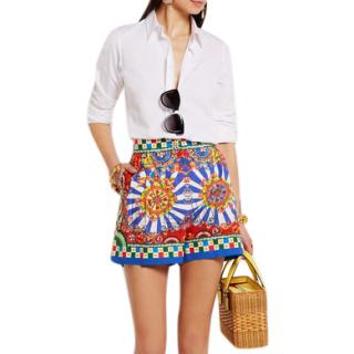 Dolce & Gabbana Carretto Printed Shorts