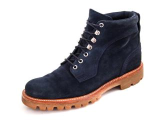 Bally Blue Suede Ankle Boots