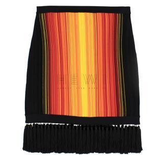 Balmain Sunset Fringe Mini Skirt