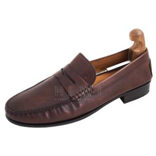 Tod's Brown Moccasin Loafers