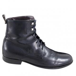Dolce & Gabbana Black Military Ankle Boots