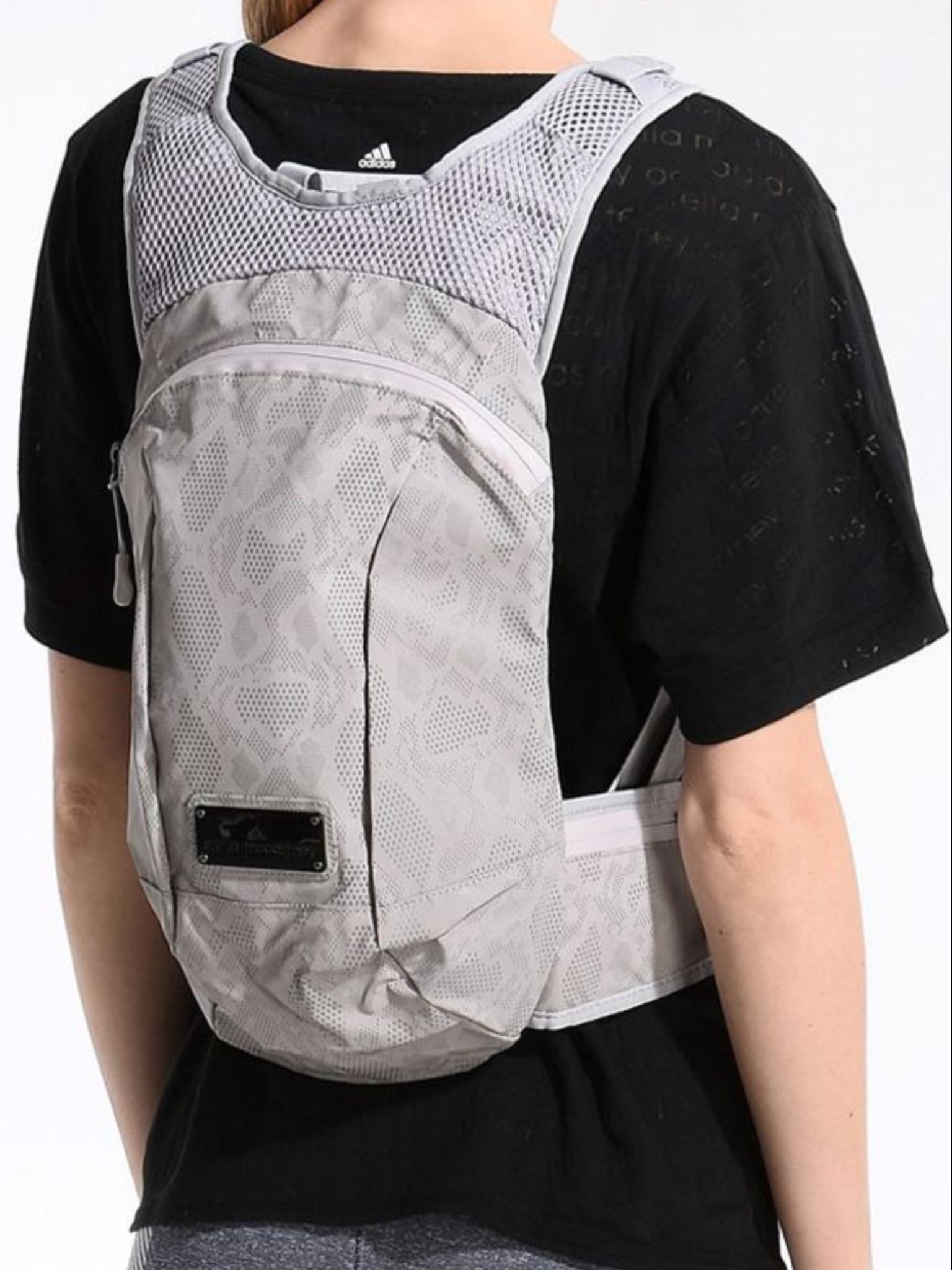 Adidas x Stella McCartney Reflective shell and mesh backpack