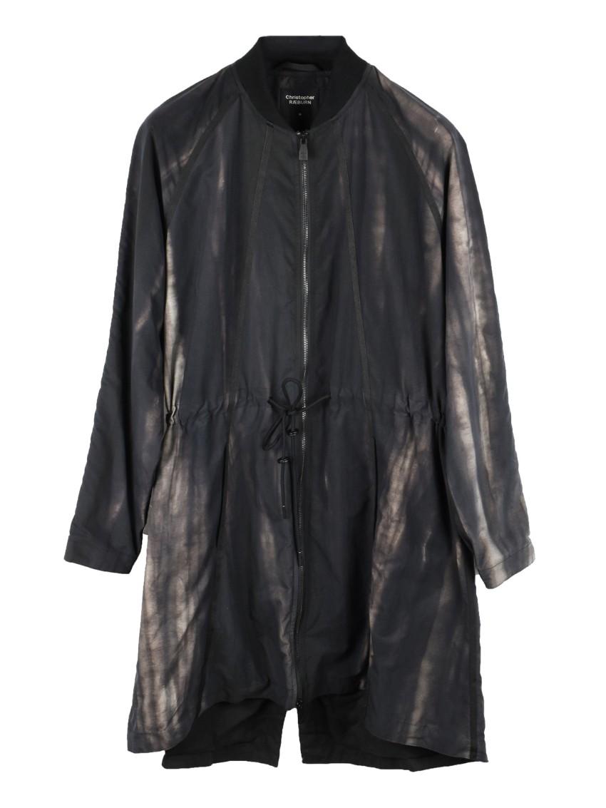 Christopher Raeburn Men's Black Wet Look Coat