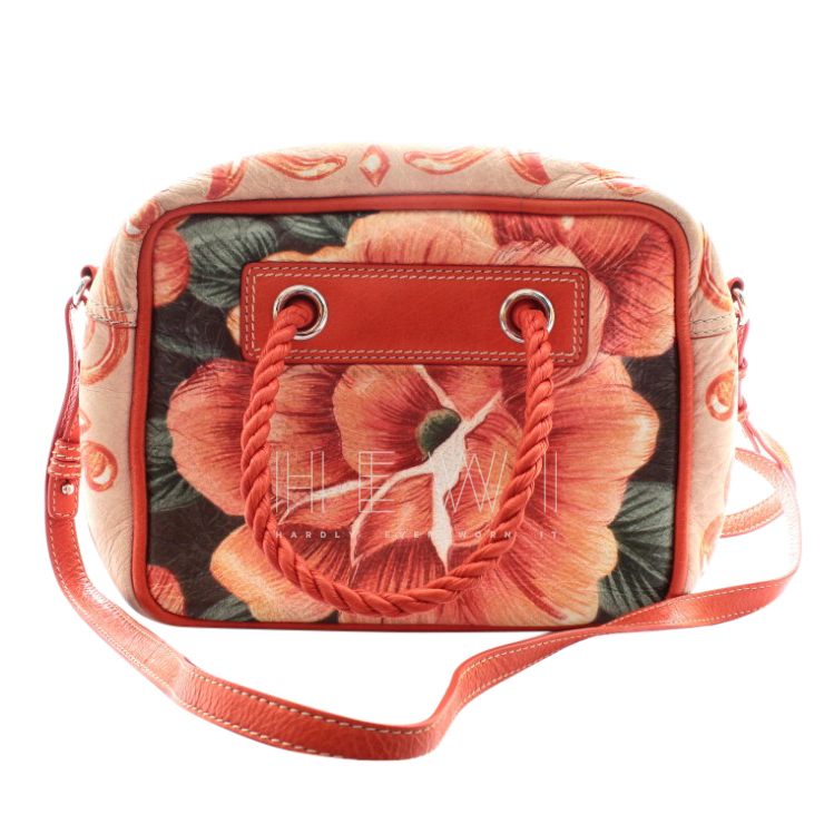 Balenciaga Orange Floral Print Blanket Bag