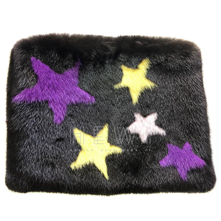 Bespoke Black Mink Fur Clutch