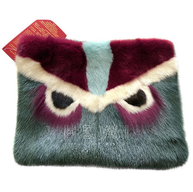 Bespoke Mink Fur Eyes Clutch