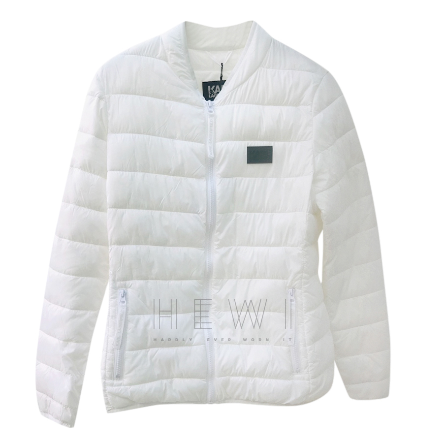 Karl Largerfeld White Puffer Jacket