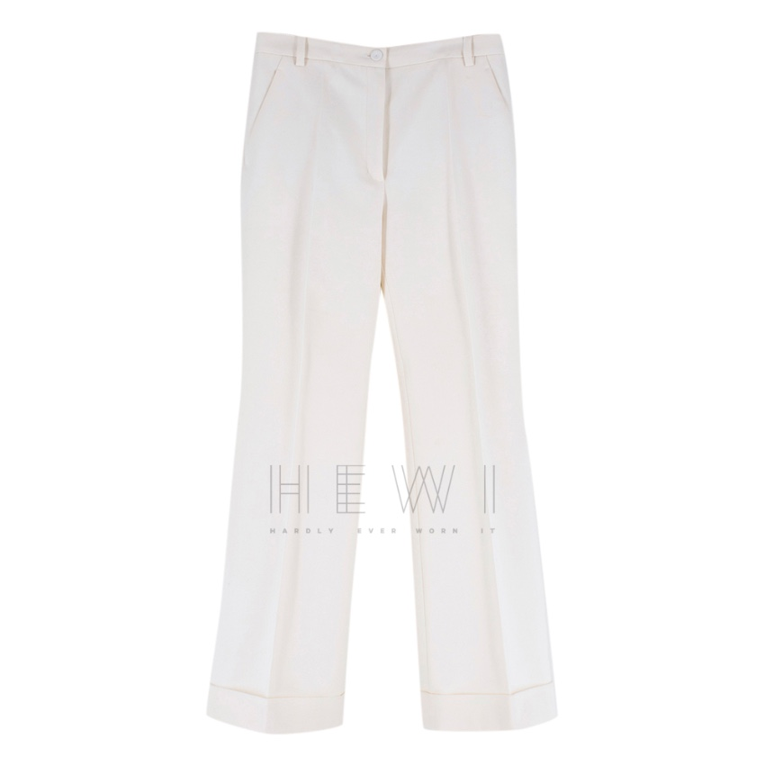 Nina Ricci High Rise Tailored Cream Trousers