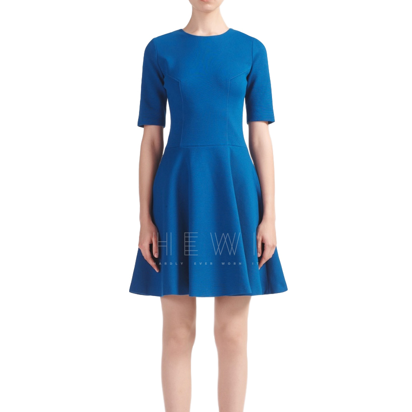 Joseph blue jersey Carla fit & flare dress