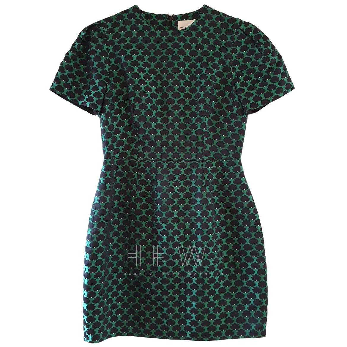 Mary Katrantzou Green Printed Mini Dress