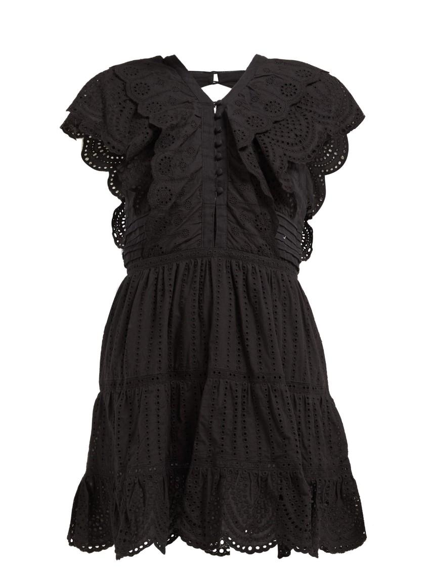Sir. Leila ruffled cotton mini dress