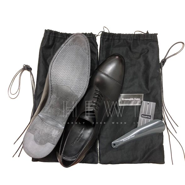 Ermenegildo Zegna Black Leather Oxfords