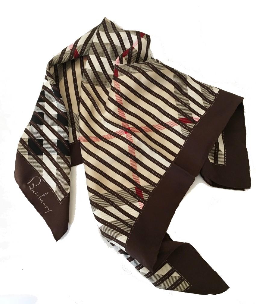 Burberry Vintage Check Silk Scarf