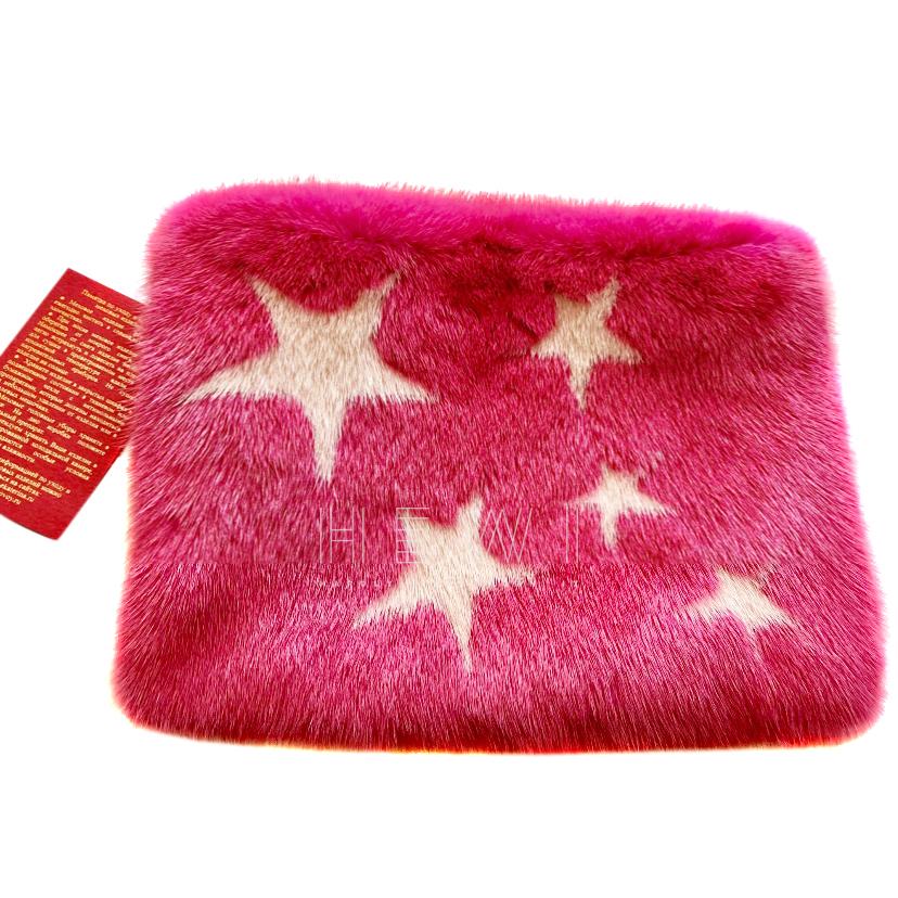 Bespoke Pink Mink Clutch Bag