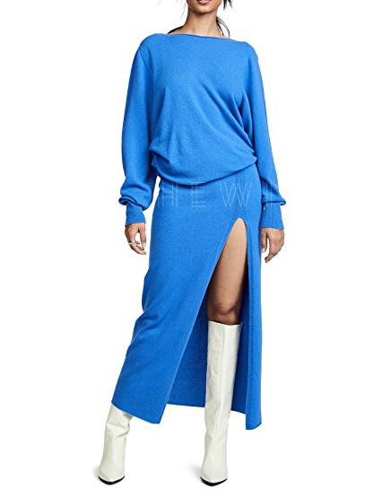 Jacquemus Jemaa Blue Wool Dress