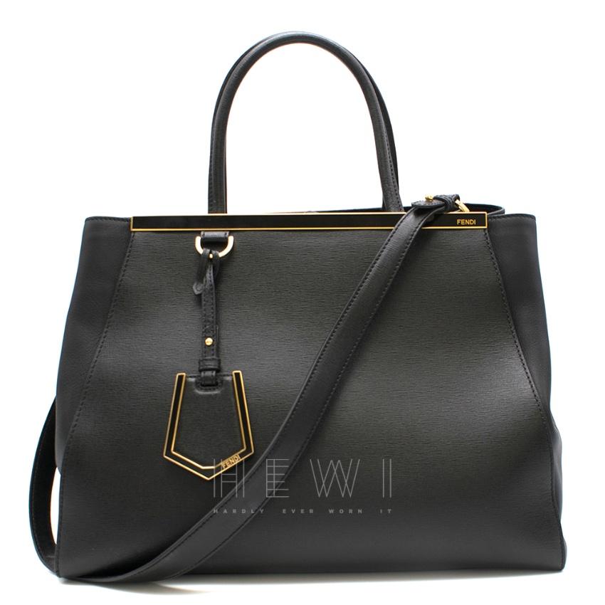 Fendi Black Leather 2Jours Tote