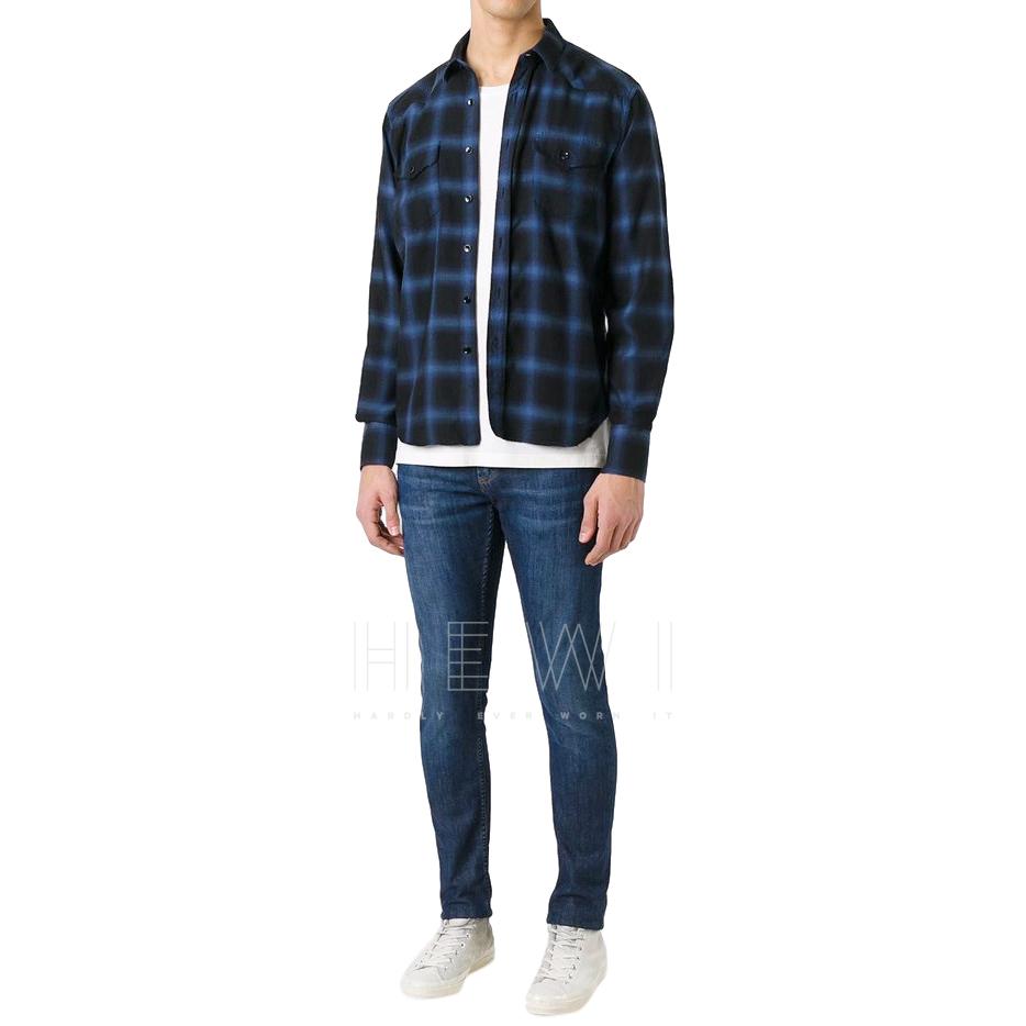 Saint Laurent Men's Check Shirt