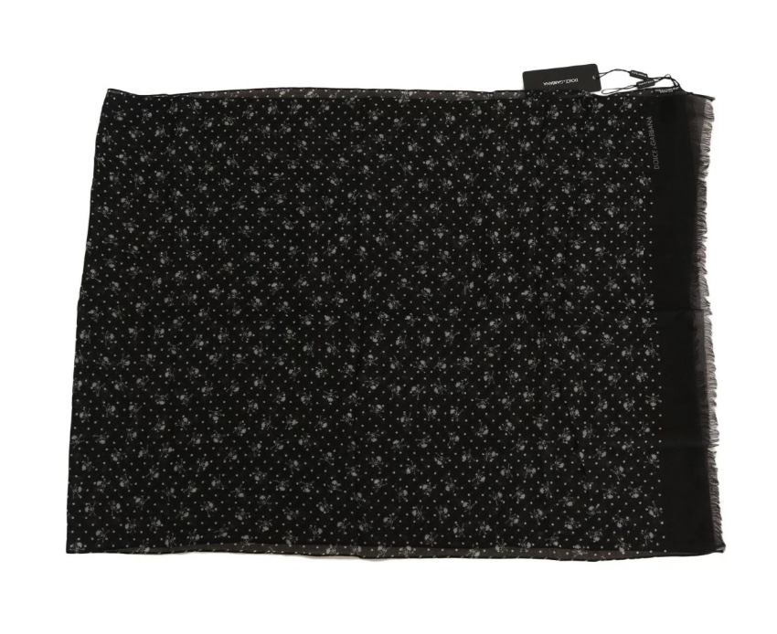 Dolce & Gabbana Men's cashmere skull print scarf