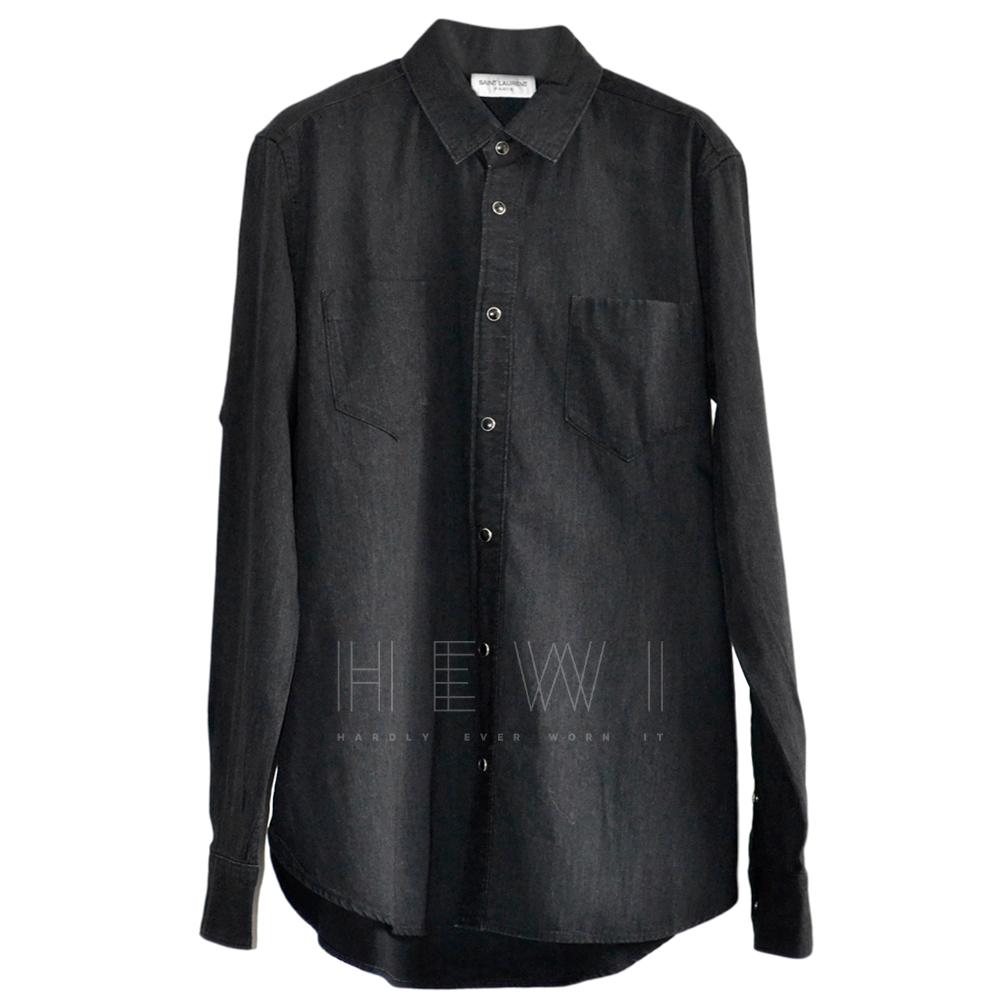 Saint Laurent Black Button Front Shirt