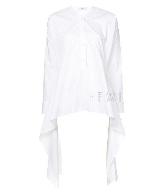 Tome White Tie Black Blouse