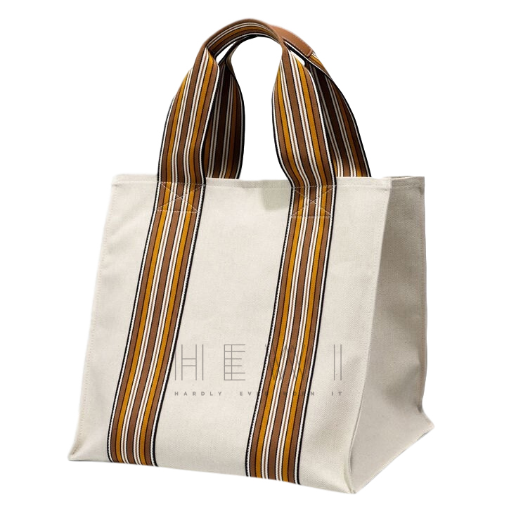 Loro Piana The Suitcase Stripe Cube M Tote Bag - New Season
