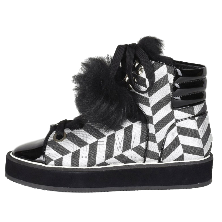 Nicholas Kirkwood Polly Neige shearling high tops