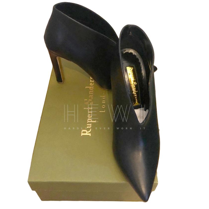Rupert Sanderson black leather shoe boots
