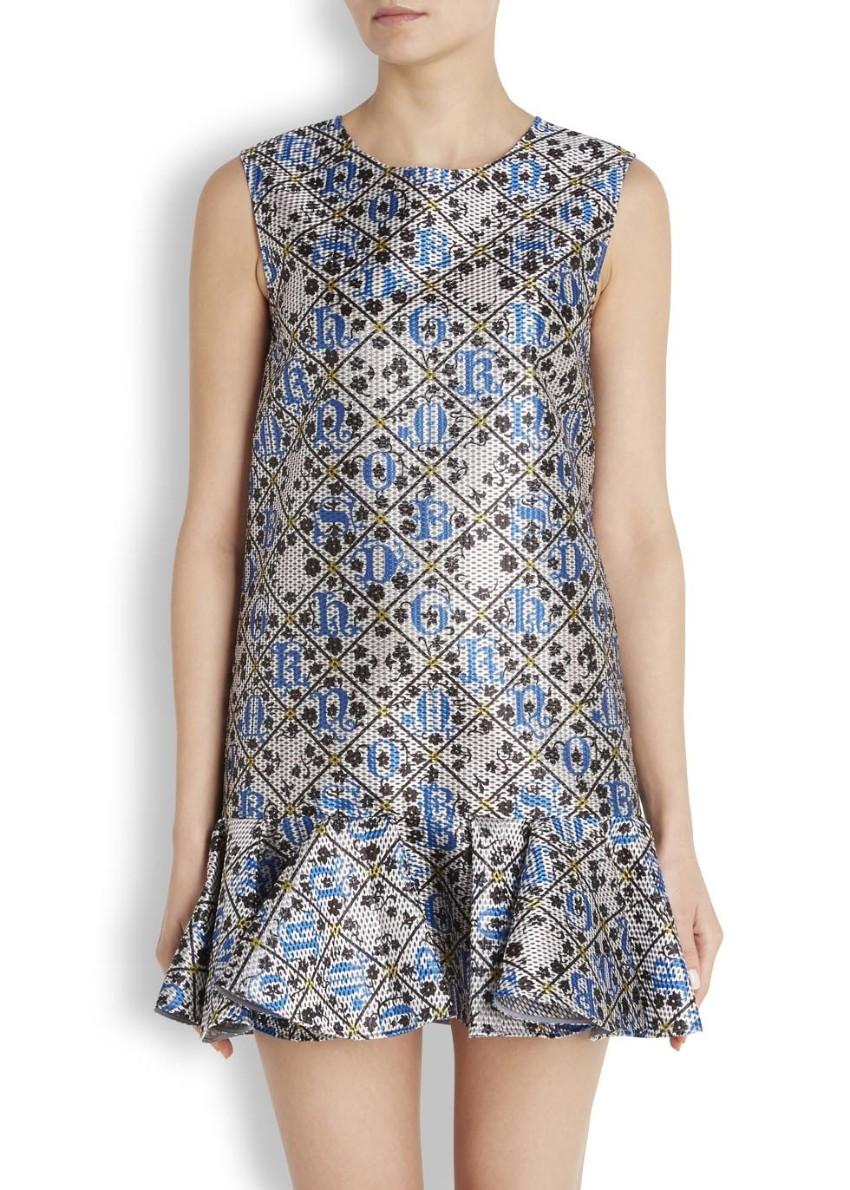 Mary Katranzou alphabet jacquard dress