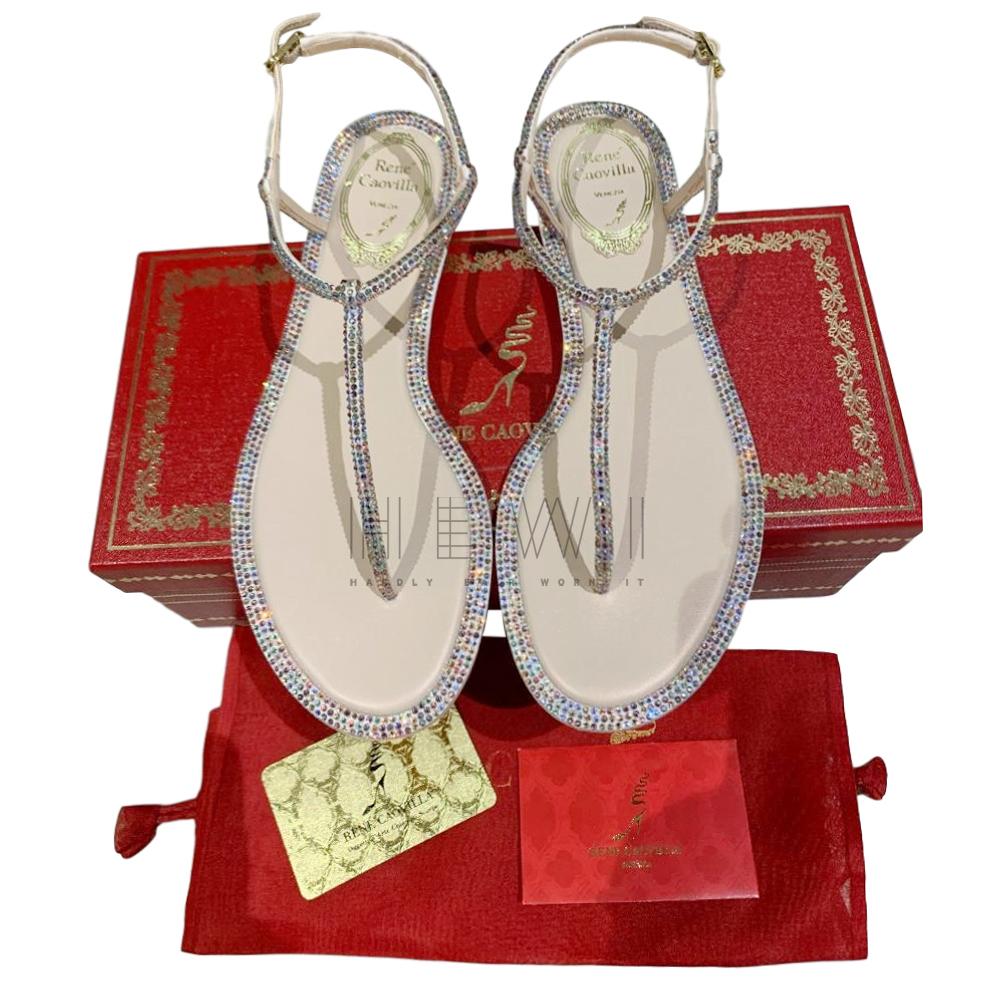 Rene Caovilla Diana Strass Flip sandals - New Season