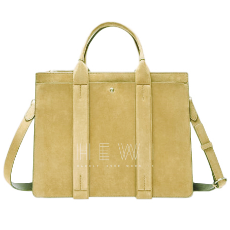 Theory Suede West Bag in Tan